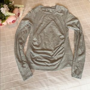 Athleta Heather Gray Long Sleeve Top